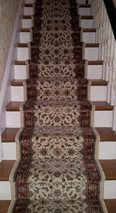 RadiciUsa Stair Runner Como  1592IV  Ivory Stair Runners- 26 inch - Sold By the Foot