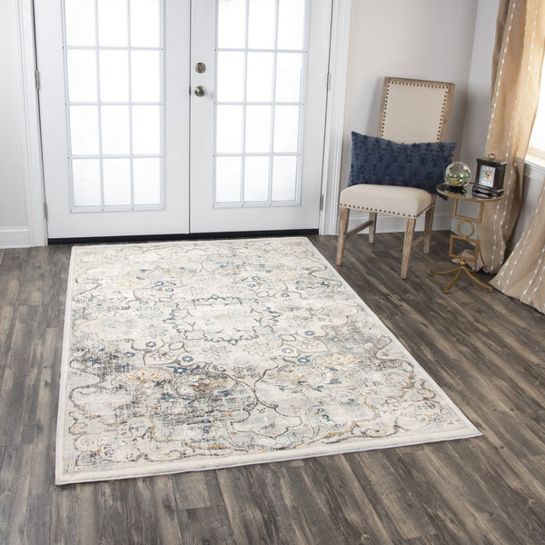 Rizzy Home Area Rugs Bristol Area Rugs BRS101 Beige-Blue RizzyHome Turkey