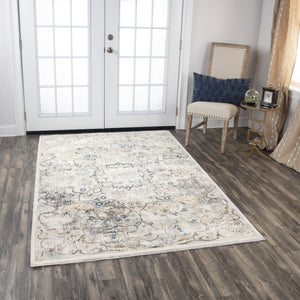 Rizzy Home Area Rugs Bristol Area Rugs BRS104 Beige-Blue Rizzy Home Turkey