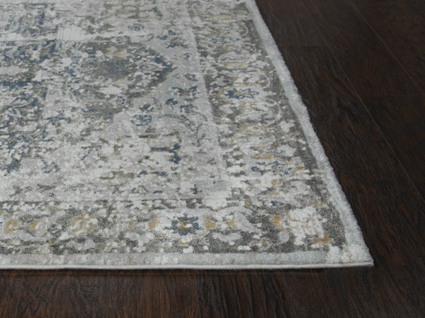 Rizzy Home Area Rugs Bristol Area Rugs BRS106 Gray-Blue Rizzy Home Turkey