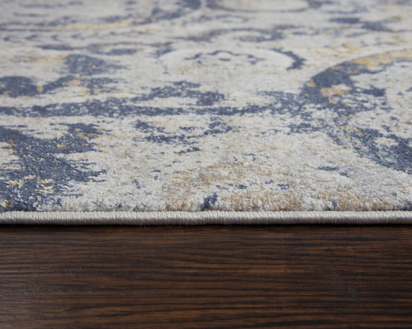 Rizzy Home Area Rugs Bristol Area Rugs BRS107 Beige-Blue Rizzy Home Turkey