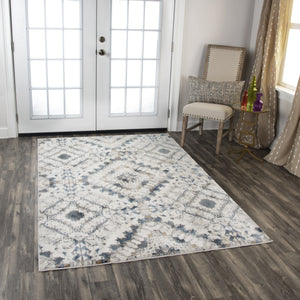 Rizzy Home Area Rugs Bristol Area Rugs BRS108 Beige-Gray Rizzy Home Turkey