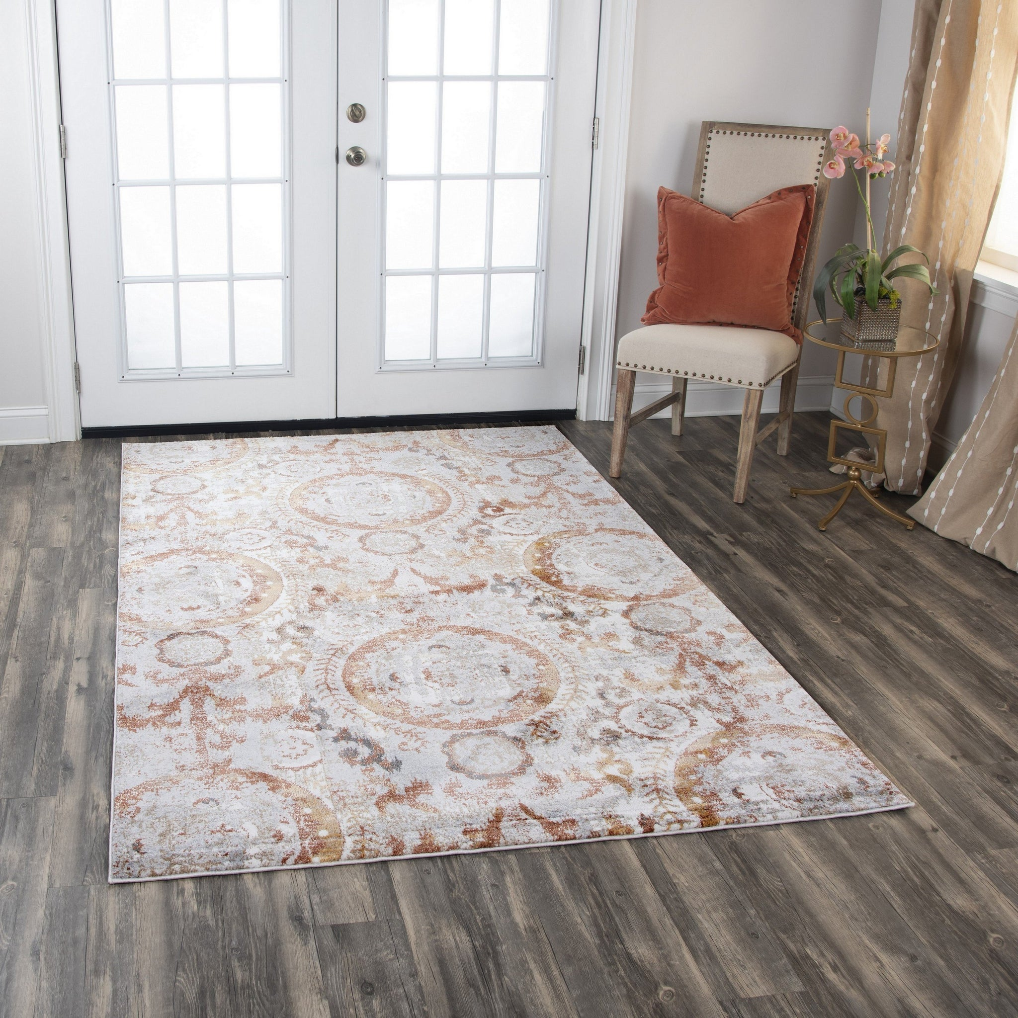 Rizzy Home Area Rugs Bristol Area Rugs BRS109 Beige-Copper Rizzy Home Turkey