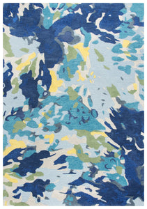 Rizzy Home Area Rugs Connie Post Area Rugs CNP105 Multi Modern 100% Wool With Unique Shapes