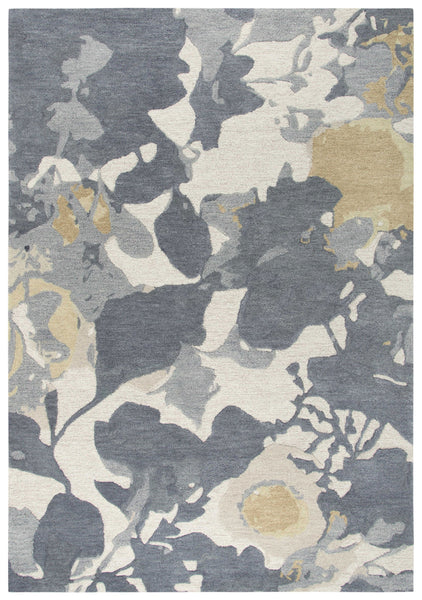 Rizzy Home Area Rugs Connie Post Area Rugs CNP106 Grey Modern 100% Wool With Unique Shapes