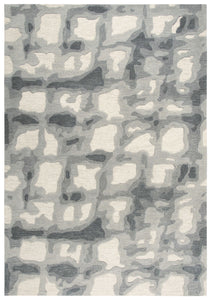 Rizzy Home Area Rugs Connie Post Area Rugs CNP107 Beige-Grey Modern 100% Wool With Unique Shapes