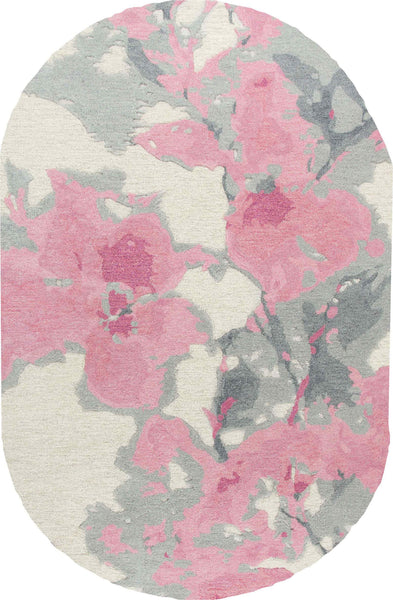 Rizzy Home Area Rugs Connie Post Area Rugs CNP108 Beige-Pink Modern 100% Wool With Unique Shapes
