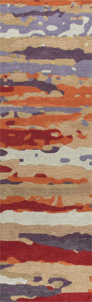 Rizzy Home Area Rugs Connie Post Area Rugs CNP110 Multi Modern 100% Wool With Unique Shapes