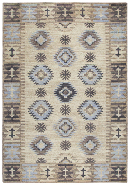 Rizzy Home Area Rugs Copy of Gossamer Area Rugs By RizzyHome GS6185 Beige 100% Wool From India