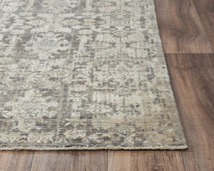 Rizzy Home Area Rugs Couture Area Rugs CUT102 Grey in 5 Sizes 80%Wool-20%Visc By RizzyHome