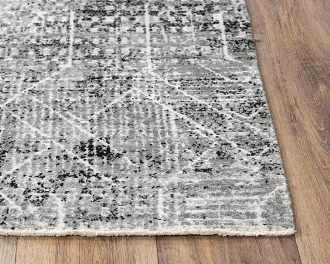 Rizzy Home Area Rugs Couture Area Rugs CUT111 Black in 5 Sizes 80%Wool-20%Visc By RizzyHome