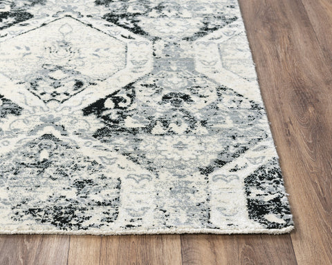 Rizzy Home Area Rugs Couture Area Rugs CUT112 Grey in 5 Sizes 80%Wool-20%Visc By RizzyHome