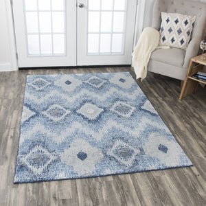 Rizzy Home Area Rugs Gossamer Area Rugs By RizzyHome GS6737 LtGrey 100% Wool From India