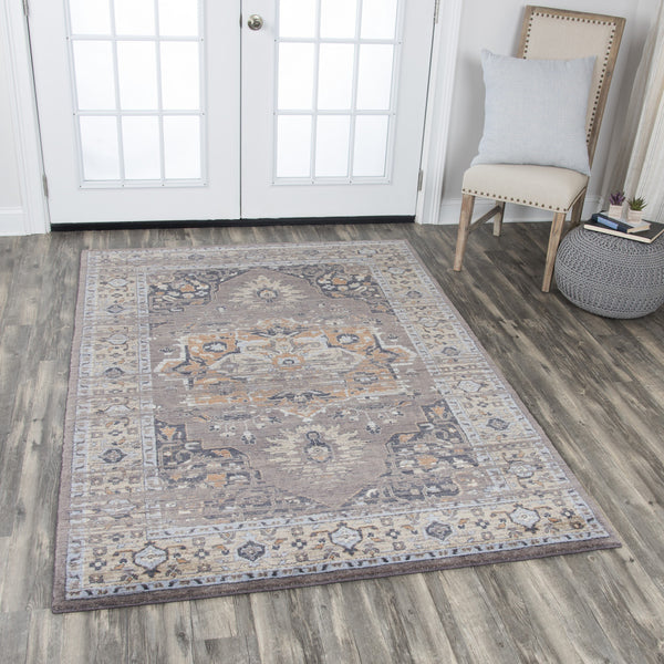 Rizzy Home Area Rugs Gossamer Area Rugs By RizzyHome GS6761 Gray 100% Wool From India