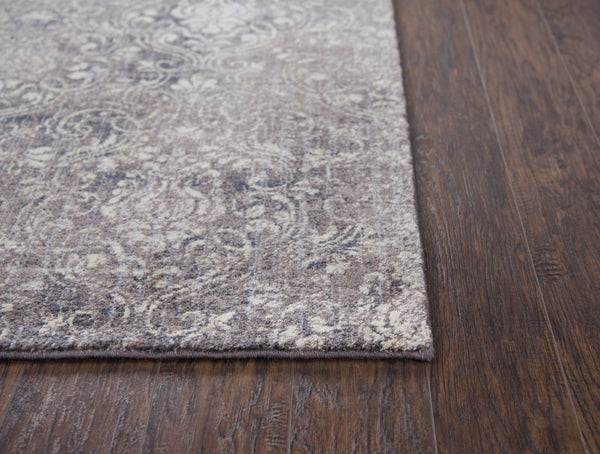 Rizzy Home Area Rugs Gossamer Area Rugs By RizzyHome GS6762 Taupe 100% Wool From India