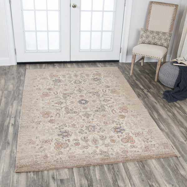 Rizzy Home Area Rugs Gossamer Area Rugs By RizzyHome GS6764 Beige 100% Wool From India