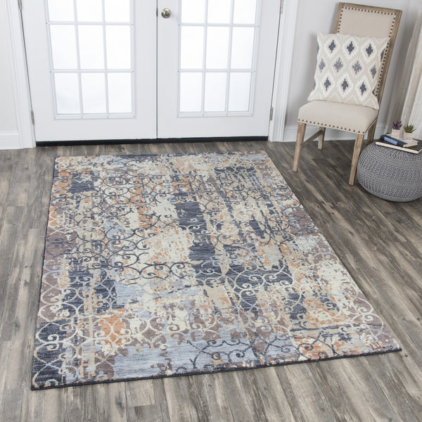 Rizzy Home Area Rugs Gossamer Area Rugs By RizzyHome GS6770 Grey 100% Wool From India