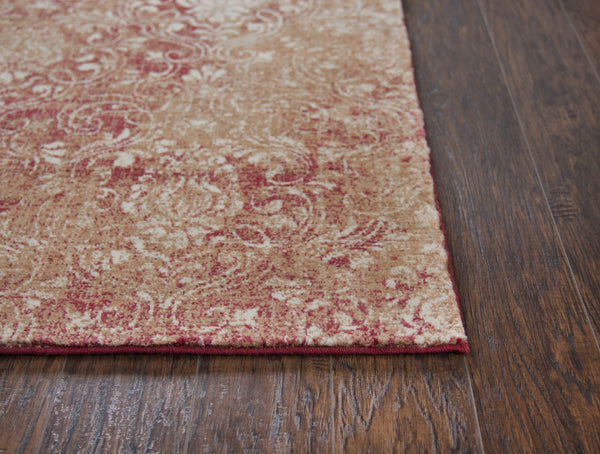 Rizzy Home Area Rugs Gossamer Area Rugs By RizzyHome GS6780 Red 100% Wool From India