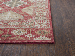 Rizzy Home Area Rugs Gossamer Area Rugs By RizzyHome GS6784 Red100% Wool From India