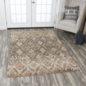 Rizzy Home Area Rugs Gossamer Area Rugs By RizzyHome GS6795 Brown 100% Wool From India