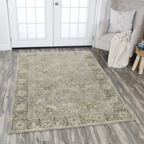 Rizzy Home Area Rugs Gossamer Area Rugs By RizzyHome GS6796 Gray100% Wool From India