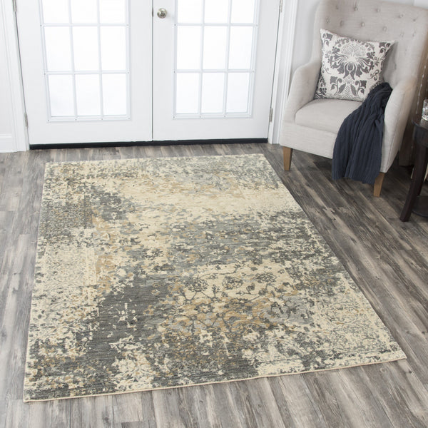 Rizzy Home Area Rugs Gossamer Area Rugs By RizzyHome GS6799 Beige 100% Wool From India