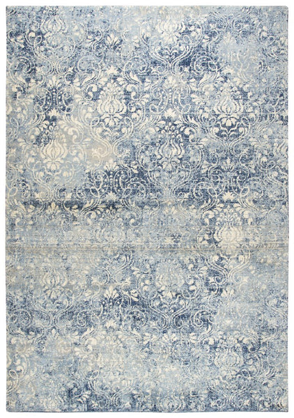 Rizzy Home Area Rugs Gossamer Area Rugs By RizzyHome GS6816 Lt Blue 100% Wool From India