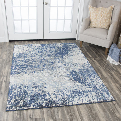 Rizzy Home Area Rugs Gossamer Area Rugs By RizzyHome GS6817 Lt Gray 100% Wool From India