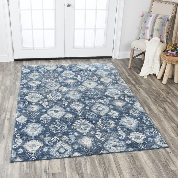 Rizzy Home Area Rugs Gossamer Area Rugs By RizzyHome GS6827 Blue100% Wool From India
