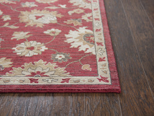 Rizzy Home Area Rugs Gossamer Area Rugs By RizzyHome GS6851 Red100% Wool From India