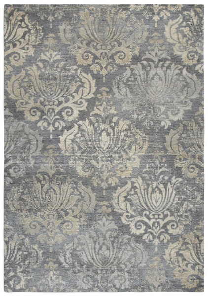 Rizzy Home Area Rugs Gossamer Area Rugs By RizzyHome GS7220 Gray 100% Wool From India