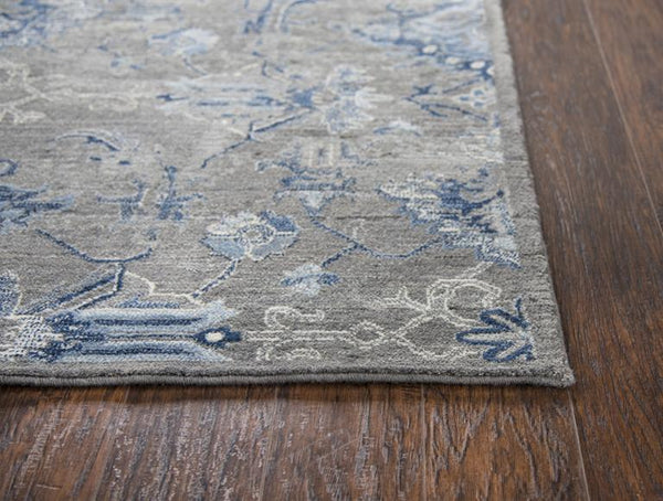 Rizzy Home Area Rugs Gossamer Area Rugs By RizzyHome GS7225 Gray 100% Wool From India