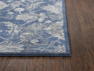 Rizzy Home Area Rugs Gossamer Area Rugs By RizzyHome GS7226 Blue 100% Wool From India