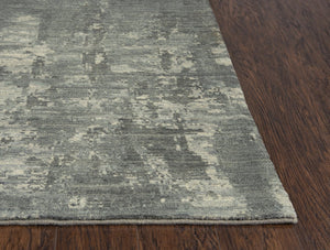 Rizzy Home Area Rugs Gossamer Area Rugs By RizzyHome GS7894 Gray 100% Wool From India