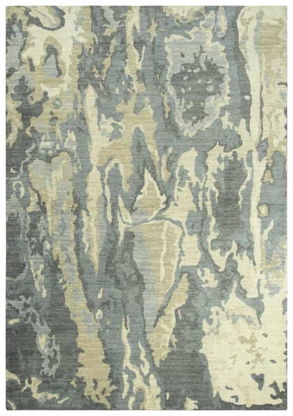 Rizzy Home Area Rugs Gossamer Area Rugs By RizzyHome GS7896 Gray 100% Wool From India