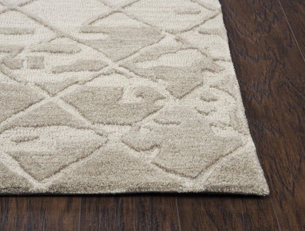 Rizzy Home Area Rugs Idyllic Area Rugs ID202B Beige 100% Wool India