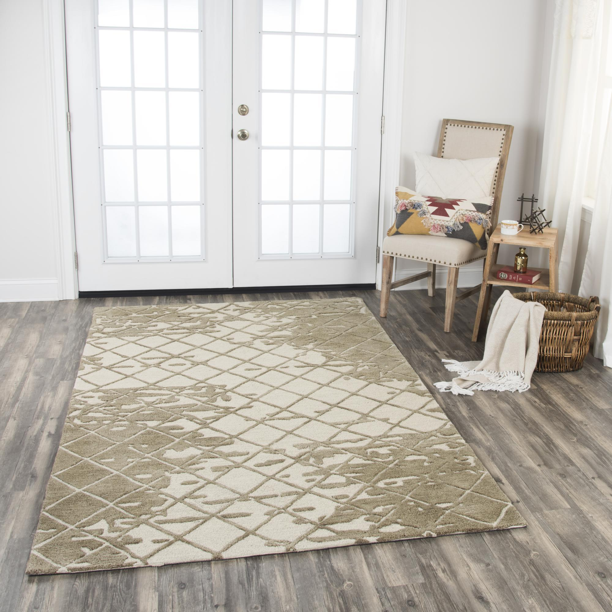 Rizzy Home Area Rugs Idyllic Area Rugs ID203B Brown 100% Wool India
