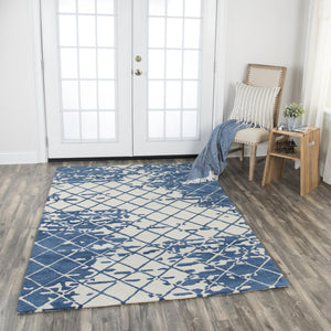 Rizzy Home Area Rugs Idyllic Area Rugs ID205B Blue 100% Wool India