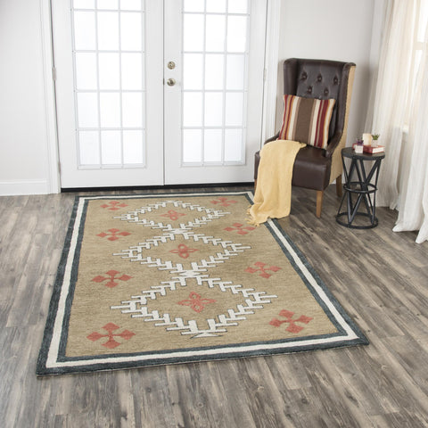 Mesa Area Rugs MZ049B Brown Wool Southwest Design in 3 Sizes Nashua NH