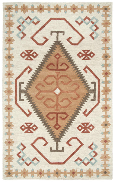 Rizzy Home Area Rugs Mesa Area Rugs MZ165B Ivory Wool Southwest Design in 3 Sizes
