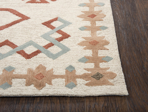 Mesa Area Rugs MZ165B Ivory Wool Southwest Design in 3 Sizes Nashua NH