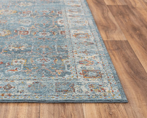 Rizzy Home Area Rugs Ovation Area Rug OVA-106 Blue in 5 Sizes 100% Wool
