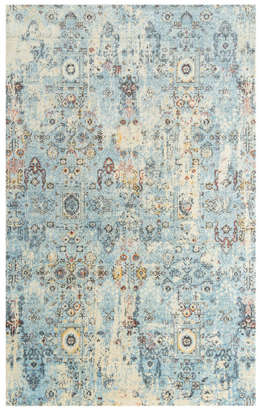 Rizzy Home Area Rugs Ovation Area Rug OVA-107 Blue in 5 Sizes 100% Wool