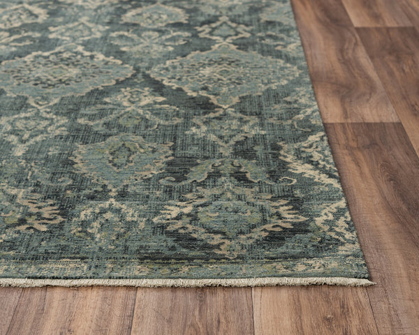 Rizzy Home Area Rugs Platinum Area Rugs PNM102 Blue By Rizzy Home Wool From India