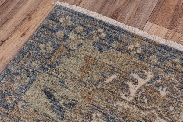Rizzy Home Area Rugs Platinum Area Rugs PNM105 Blue By Rizzy Home Wool From India