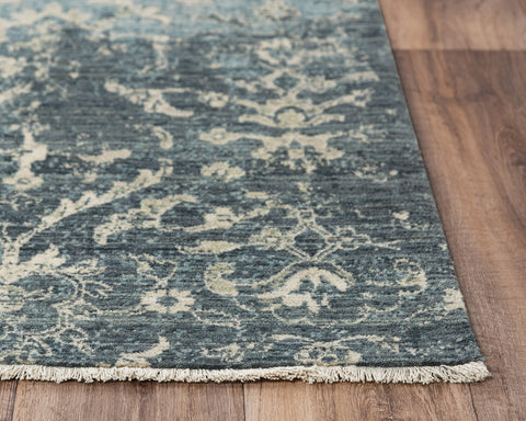 Rizzy Home Area Rugs Platinum Area Rugs PNM108 Blue By Rizzy Home Wool From India