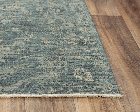 Rizzy Home Area Rugs Platinum Area Rugs PNM110 Blue By Rizzy Home Wool From India