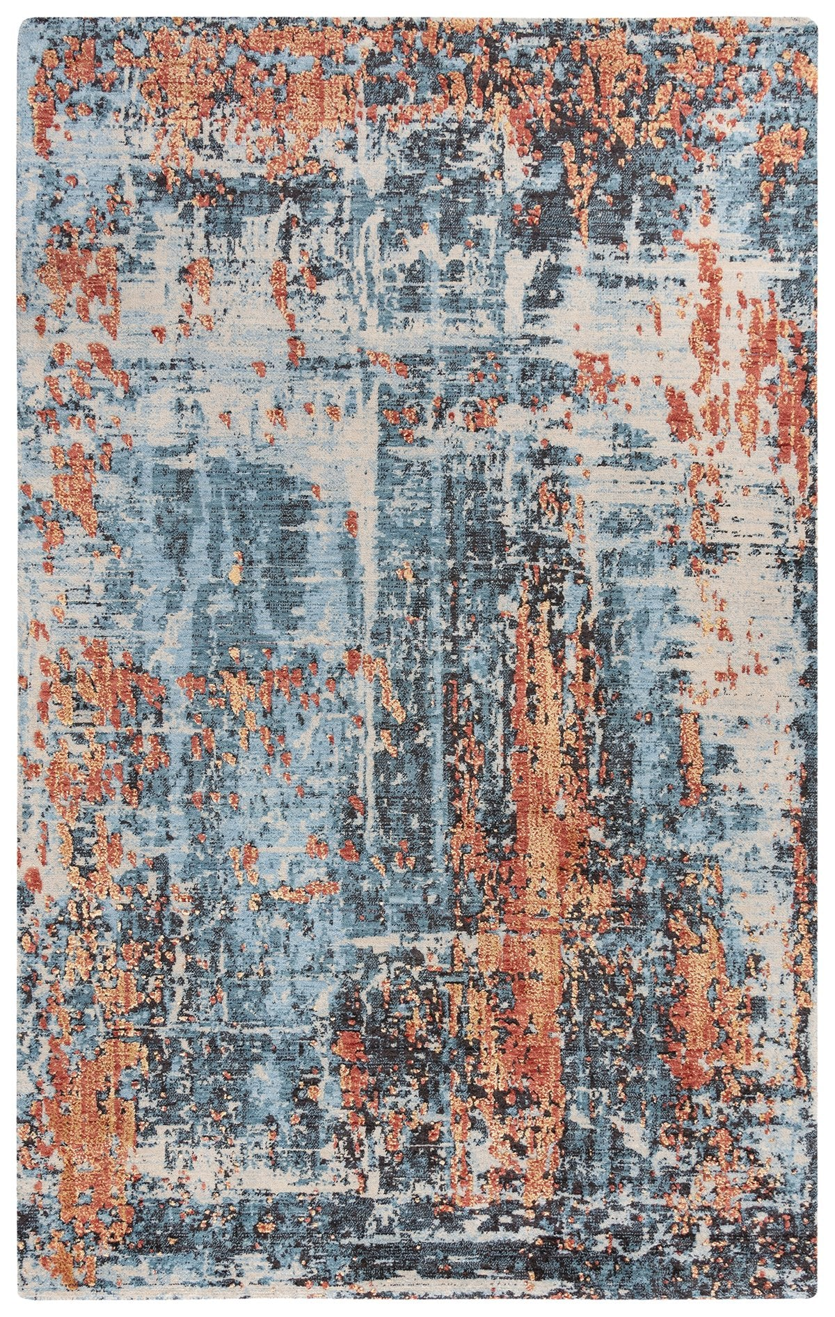 Rizzy Home Area Rugs Premier Area Rugs PMR101 Blue Rug By Rizzy Home