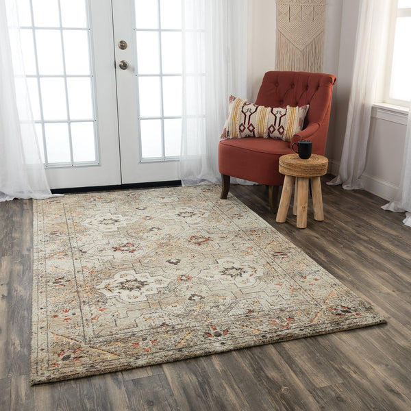 Rizzy Home Area Rugs Premier Area Rugs PMR109 Beige Rug By Rizzy Home