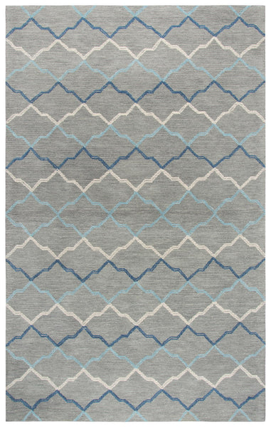 Rizzy Home Area Rugs Resonant Area Rugs RS902A Gray Wool Hand Tufted 5 Sizes